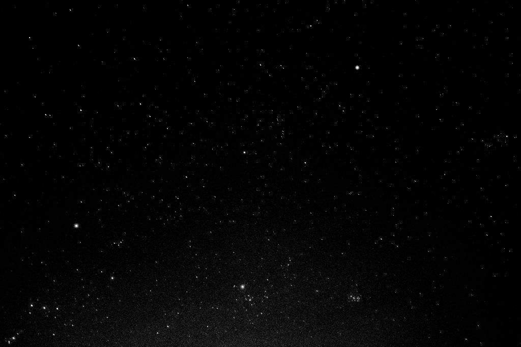 Stars at 1600 ISO